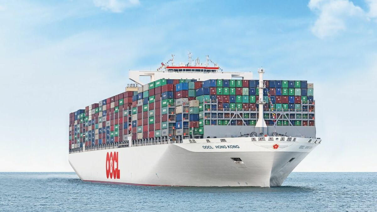 21,000-TEU OOCL Hong Kong is due to be joined by five new vessels of 23,000 TEU in 2023