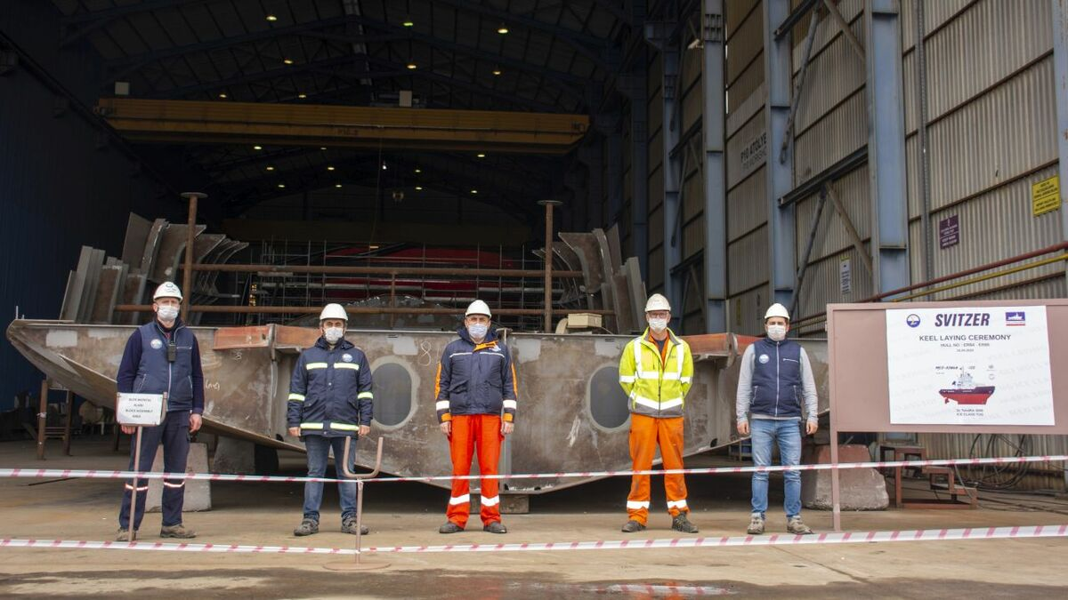 Svitzer and Med Marine celebrate keel laying for two icebreaking tugs