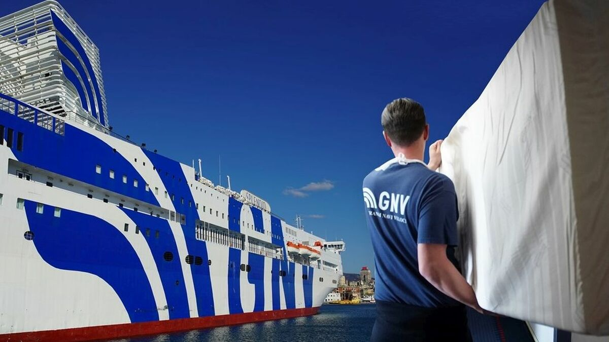 GNV's Splendid ferry was converted into a hospital in 10 days (credit: GNV)