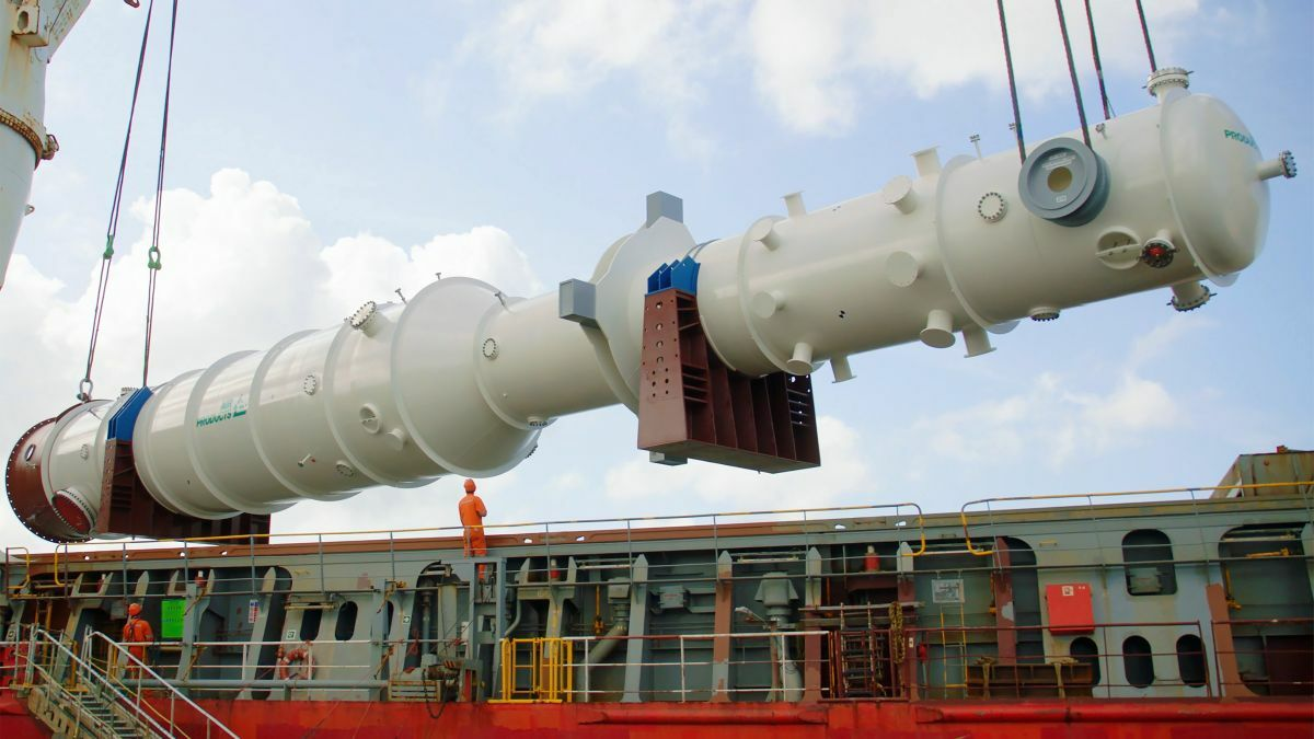 Two LNG heat exchangers will be shipped to Mozambique from Air Products facility in Port Manatee, Florida