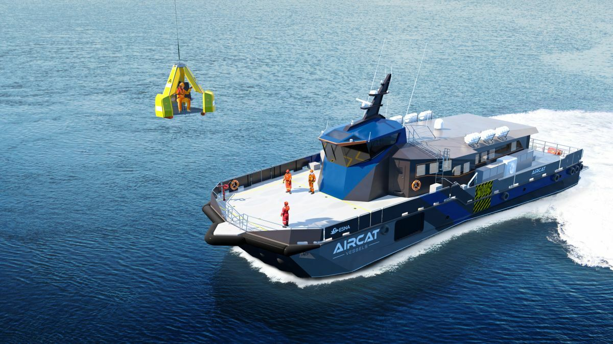 The 53-knot SES vessel that can accommodate 80 and has significant capacity for deck cargo
