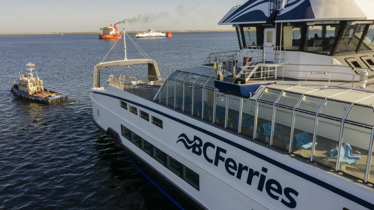 'Future-proofed' ferries ready to go electric