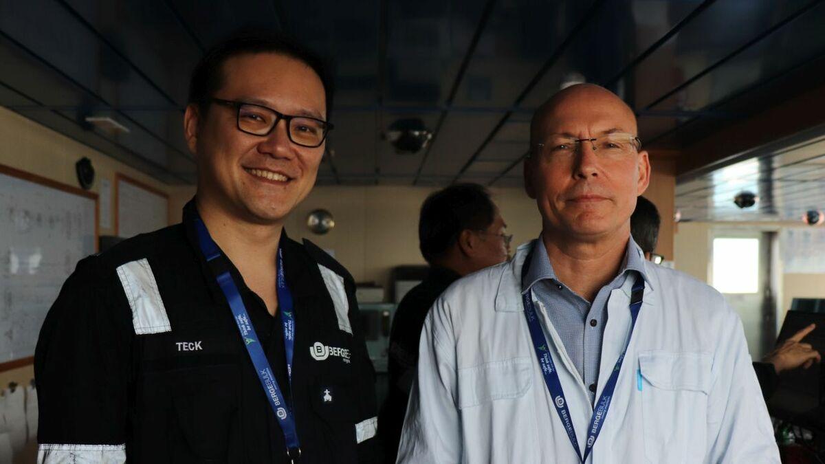 (l-r) Berge Bulk's Sim Teck Siang with Moscord founder Freddy Ingemann