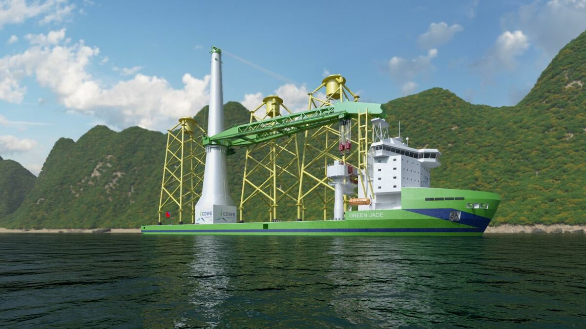 Green Jade will have a 4,000-tonne capacity crane and DP3 dynamic positioning capability