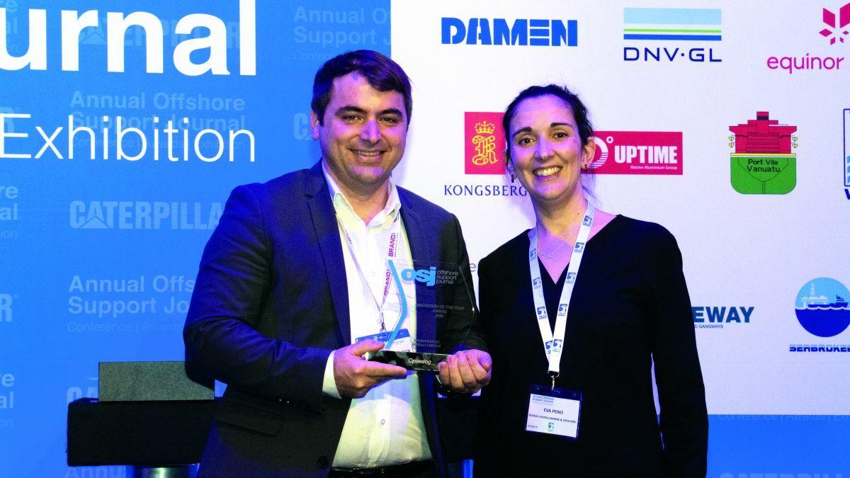 Arnaud Dianoux of Opsealog (L) and Eva Peno of Bureau Veritas (R)