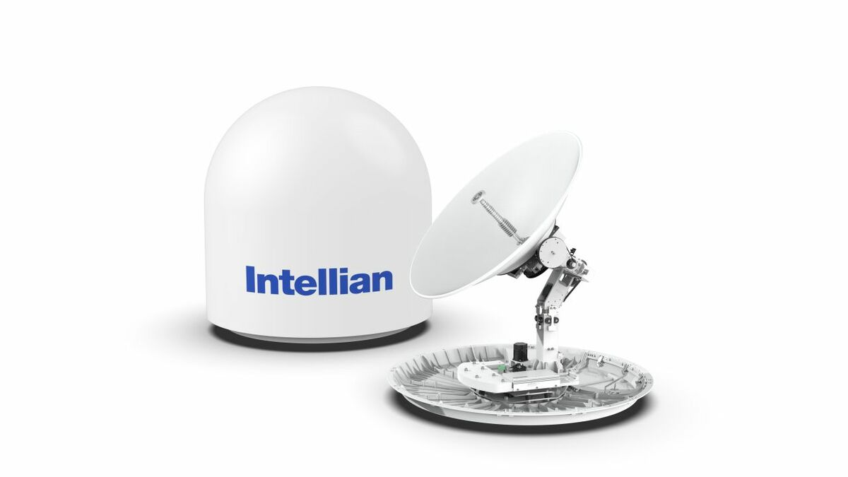 Intellian v100NX 1-m VSAT antenna is commissioned using AptusNX