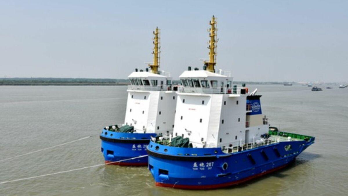 Jiangsu Zhenjiang Shipyards completed tugs for COSCO's AI Guinea project