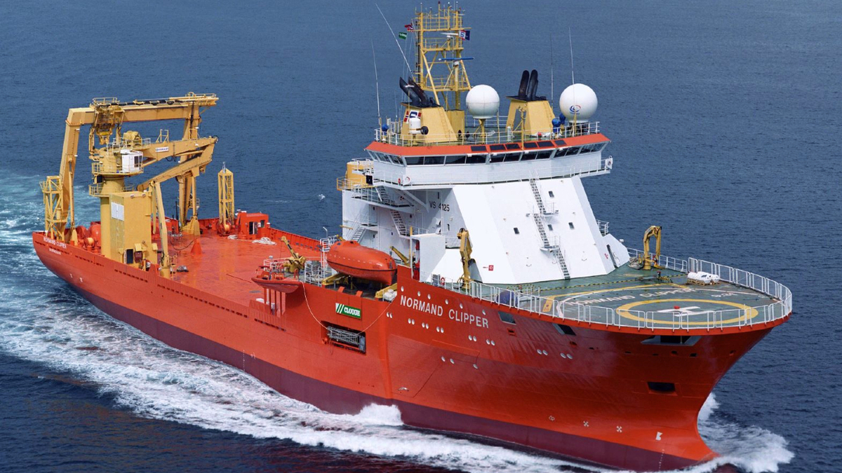 The construction support vessel Normand Clipper is being upgraded with new ROV systems and a survey package