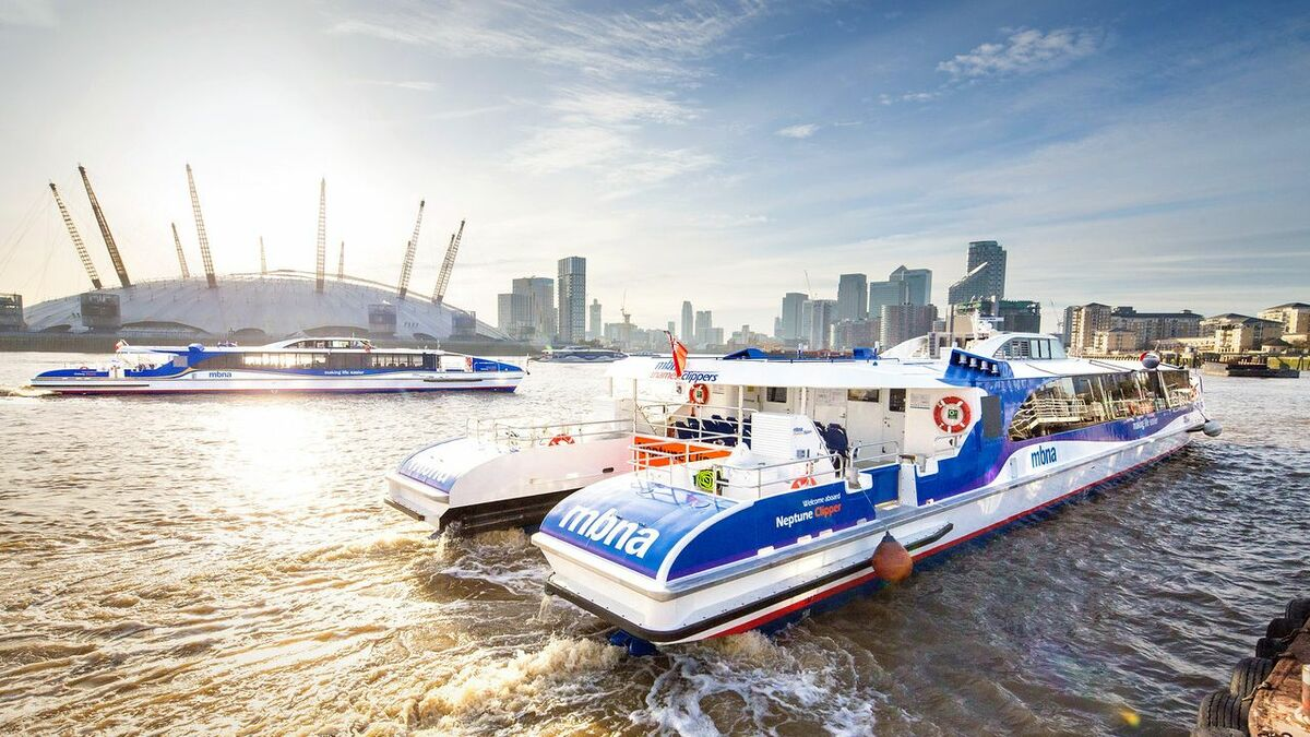 Thames Clippers is working on the concept and delivery of a 220-seat high-speed hybrid vessel (pictured: its Hunt-class vessels)