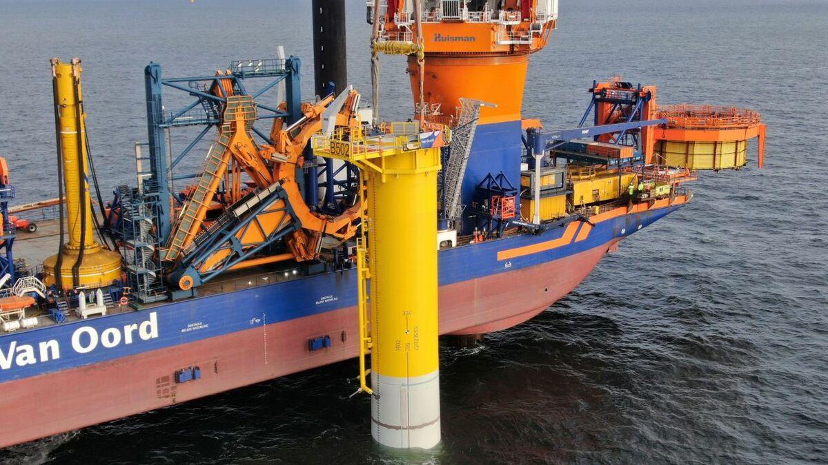 Aeolus installs the foundation and slip joint on Borssele V