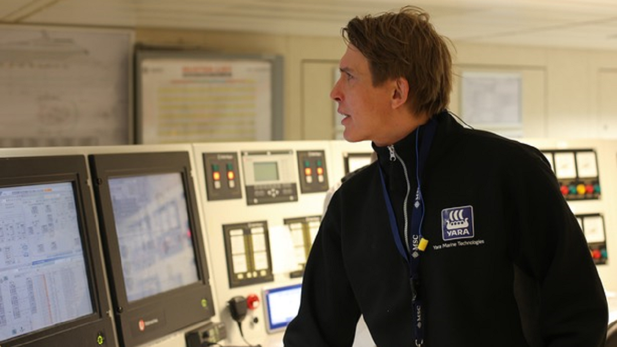 Yara Marine Training Academy encompasses training in the classroom, online and on the ship