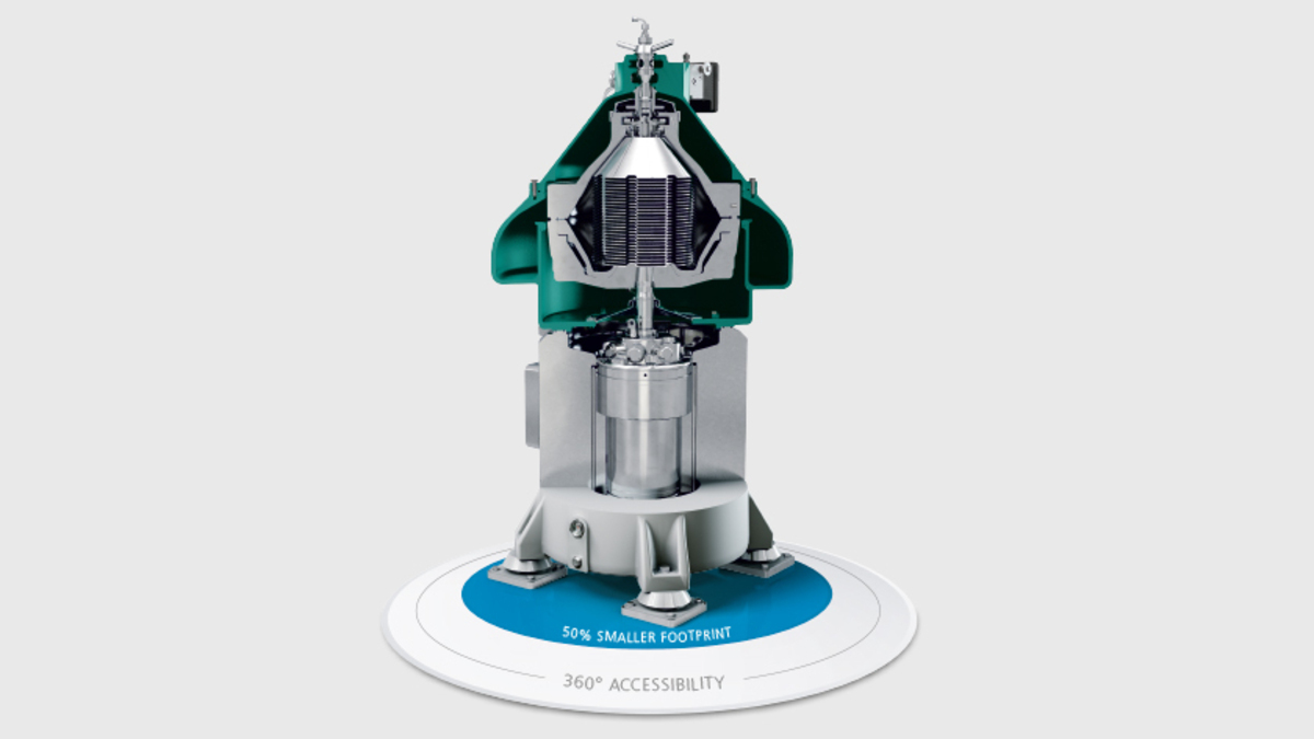 GEA's marine separator, which does not require a traditional motor, gearbox, belt and coupling (Image: GEA)