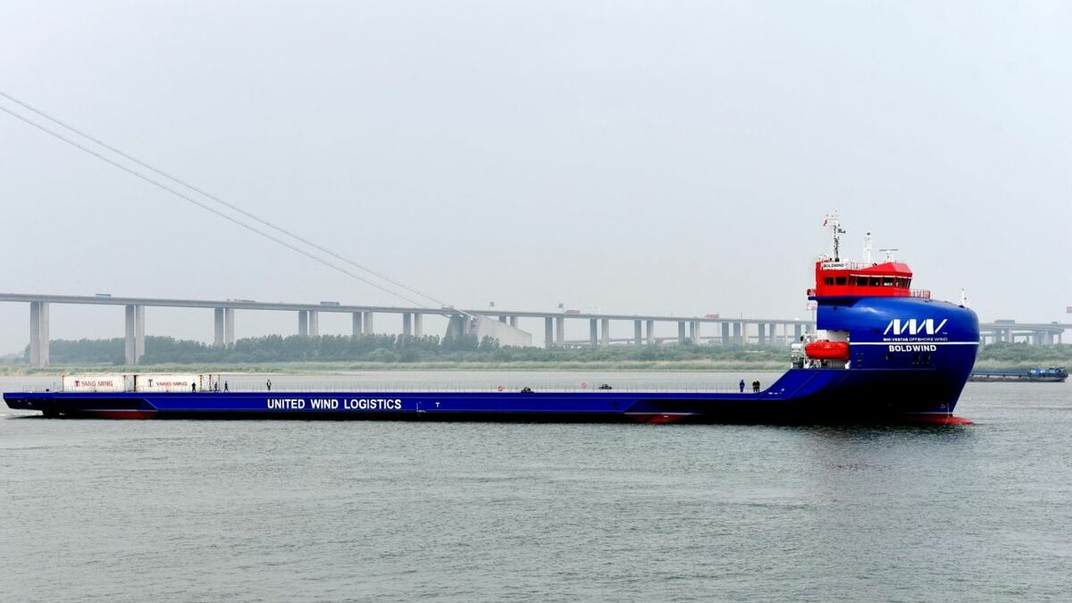 BoldWind is the first of two vessels for United Wind Logistics