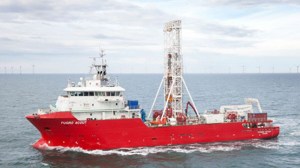 Fugro Scout is one of a number of vessels working on the Sofia project in the Dogger Bank area