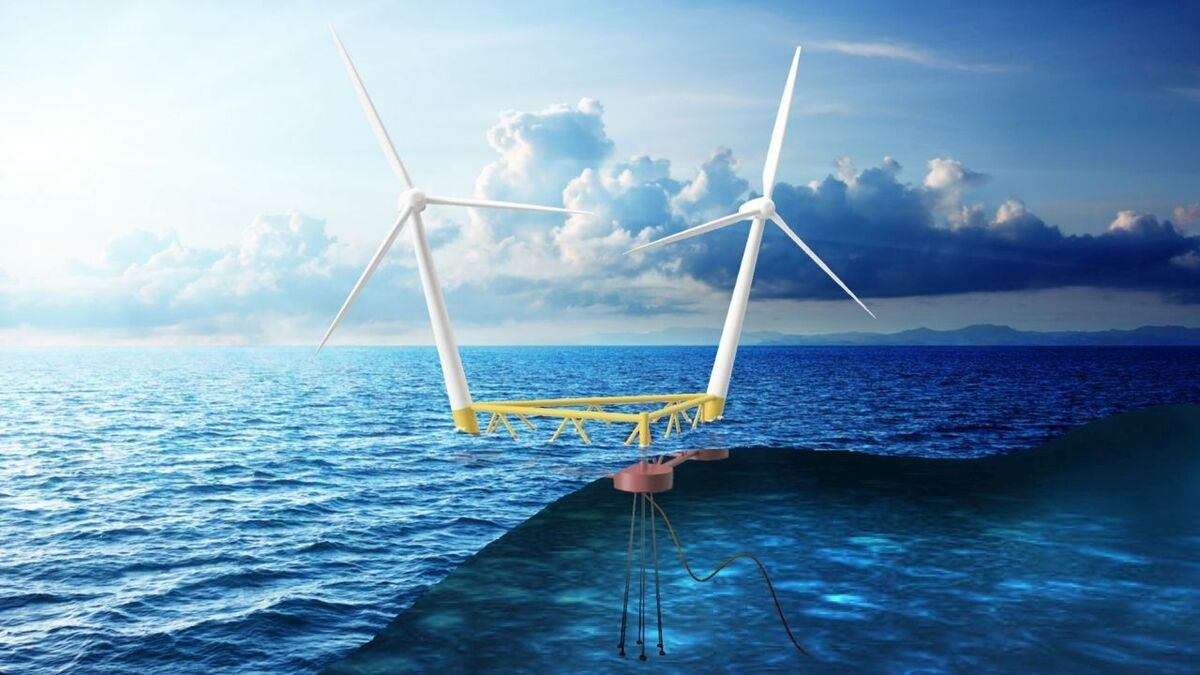 Hexicon's floating wind concept is designed with deepwater projects in mind