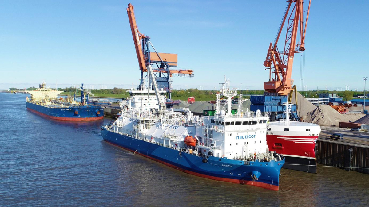 First STS LNG bunkering of product tanker in German waters