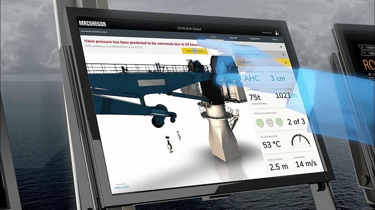 MacGregor creates value through simulation of its vessel crane systems