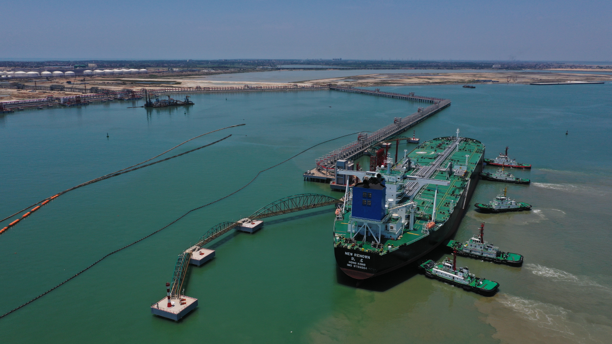 First VLCC berths at terminal serving China's newest oil refinery complex