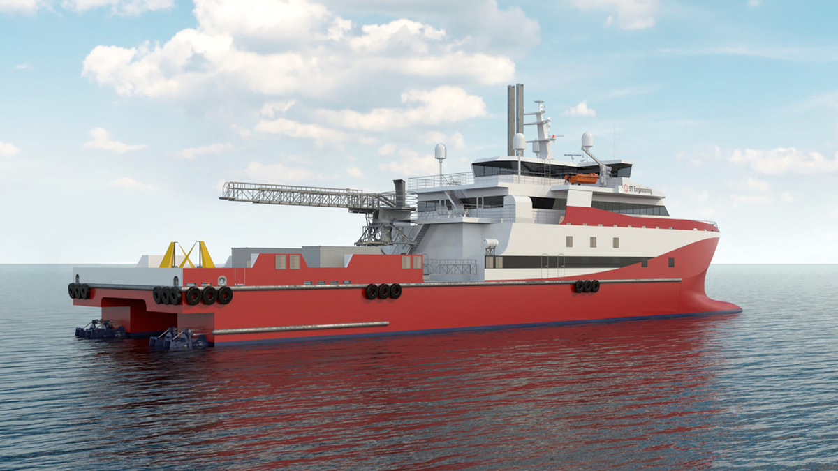 The LNG-fuelled semi-SWATH hulled vessel could be fitted with a W2W solution