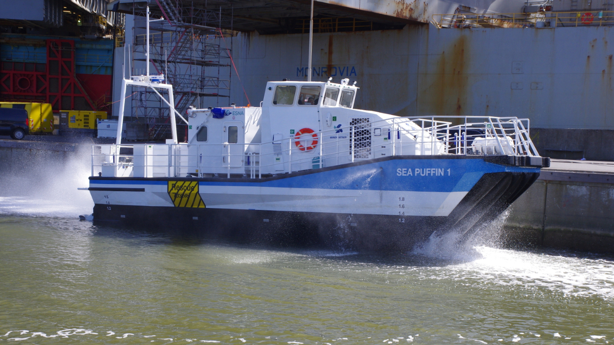 Compared to larger CTV, Sea Puffin 1 can significantly cut fuel consumption and emissions
