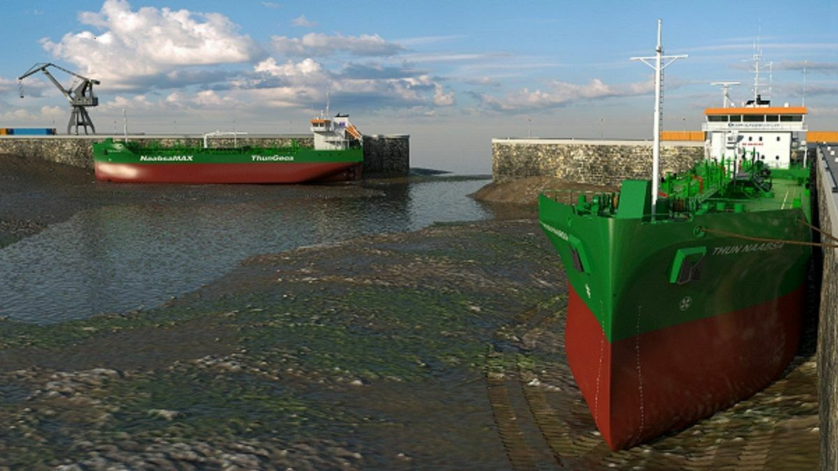 Not Always Afloat But Safely Aground tanker design overcomes port tidal range limitations