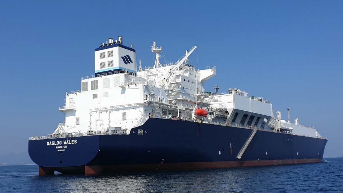 The 180,000 m3, GasLog Wales is GasLog's latest large-capacity LNG carrier