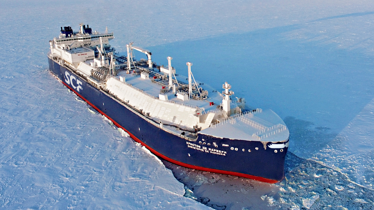 The new series of Arc7 ice-class LNG carriers will have a different hull shape than those of the Christophe de Margerie series