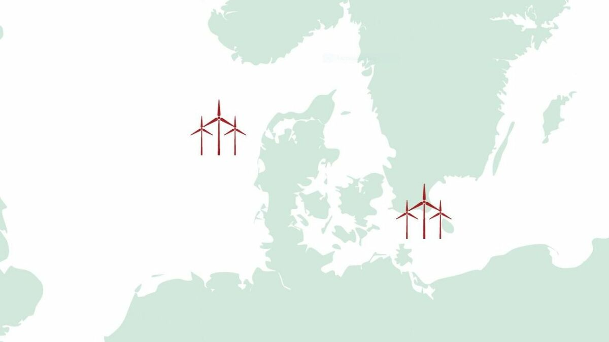 One energy island will be built in the North Sea, the second, in the Baltic, will be on Bornholm