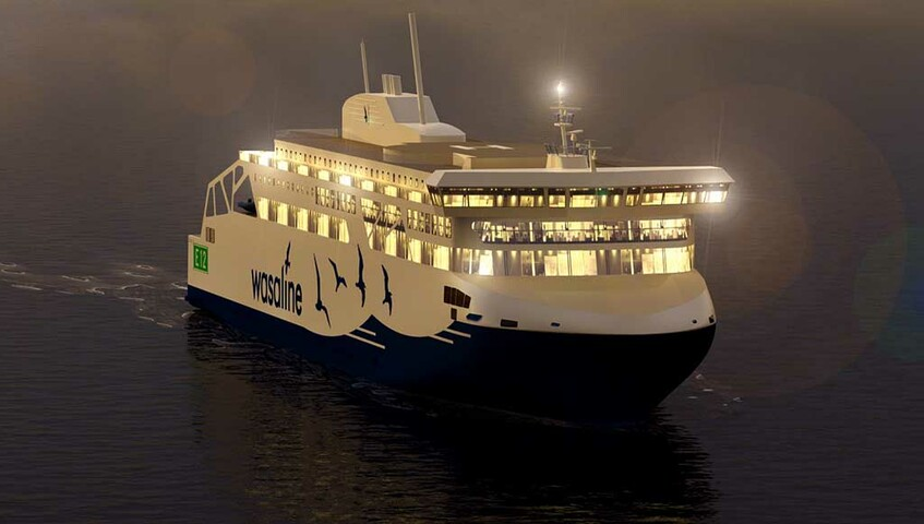 New Wasaline ferry combines LNG, battery and sensor technologies