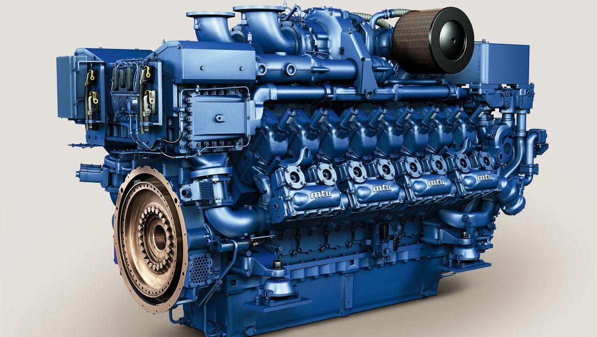 MTU's 16V 4000 pure-gas engine has a power output of 1,492 kW
