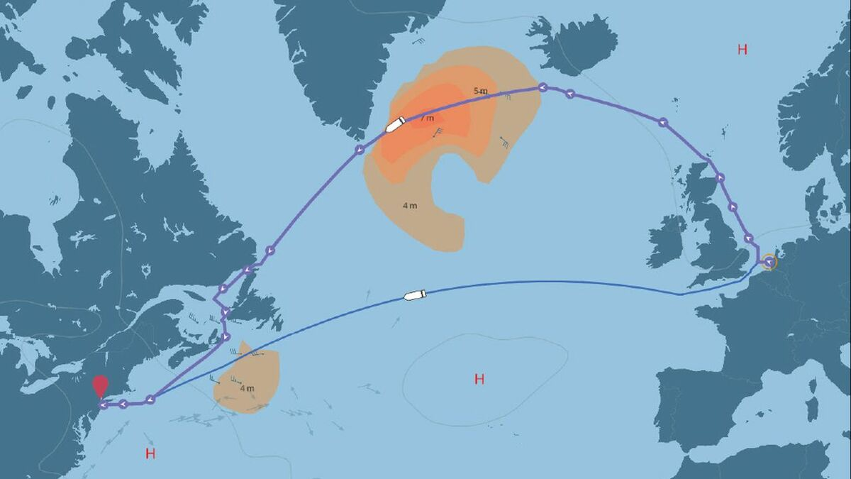 Napa compared ship voyages through the North Sea versus the Channel