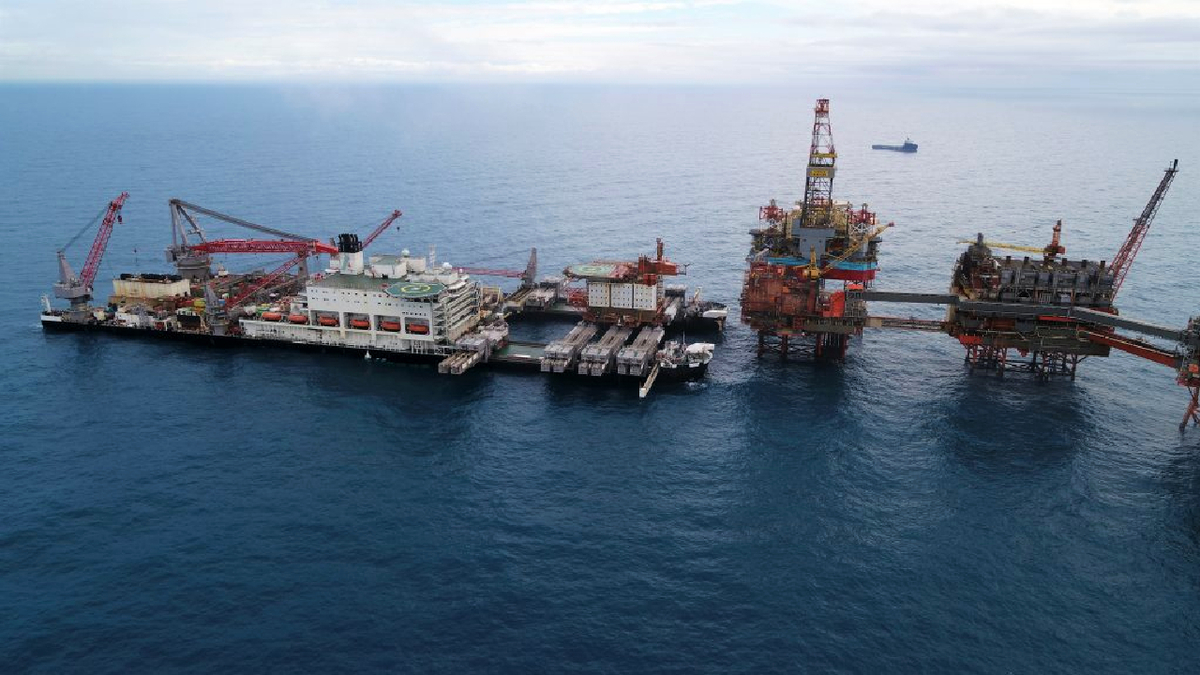 The Middle East Gulf is expected to become an offshore decommissioning hotspot (Image: Pioneering Spirit, North Sea)