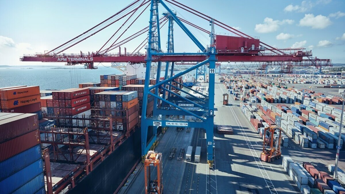 Container volumes remain high at the Port of Gothenburg (Photo: Gothenburg Port Authority)