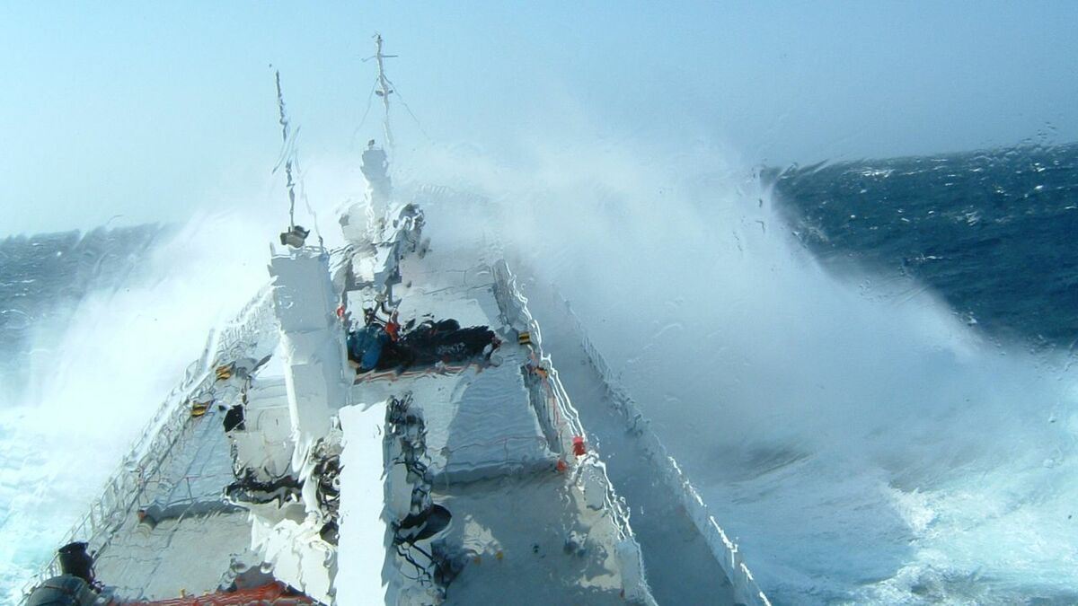 Ship performance in adverse weather and wave slamming needs to be considered