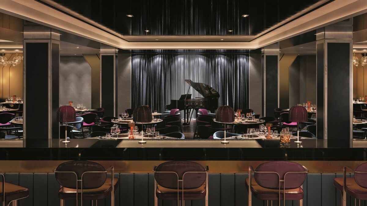 Spirit of Adventure has a dedicated cabaret supper club space that mixes dining, entertainment and dancing (rendering credit: Saga Cruises website)