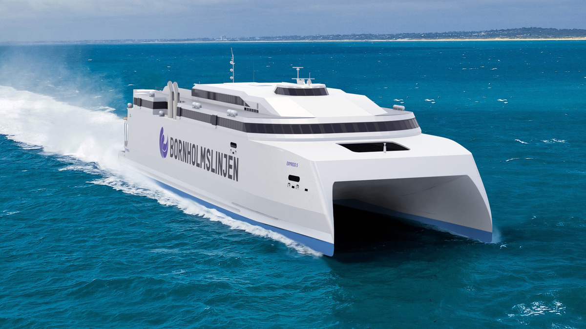 The new Molslinjen high-speed ferry is being built at the Austal yard in the Philippines and will feature a combination of Wärtsilä propulsion solutions (Copyright: Austal Ships Pty Ltd)