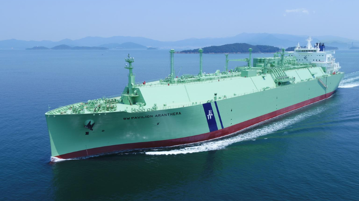 BW LNG's new ME-GI LNG carrier undergoing gas trials