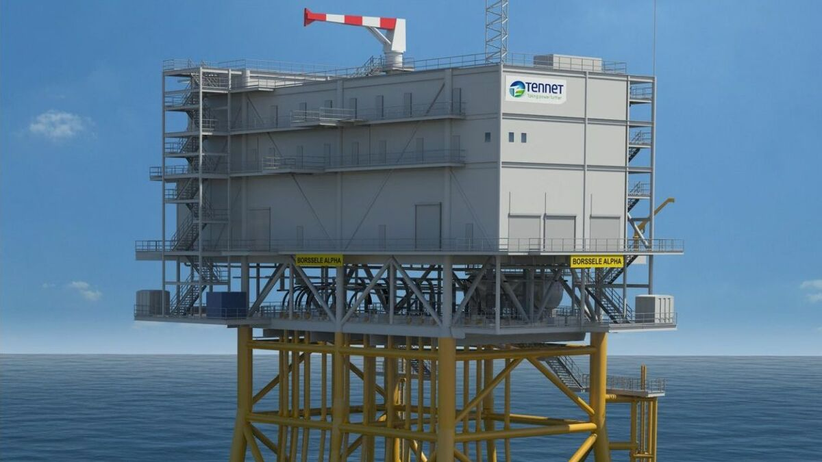 The Hollandse Kust Noord transformer station consists of a jacket weighing 1,930 tonnes, 870-tonne piles and a four-deck topside structure