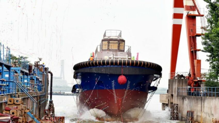 Five tugs launched as Chinese vessel building accelerates