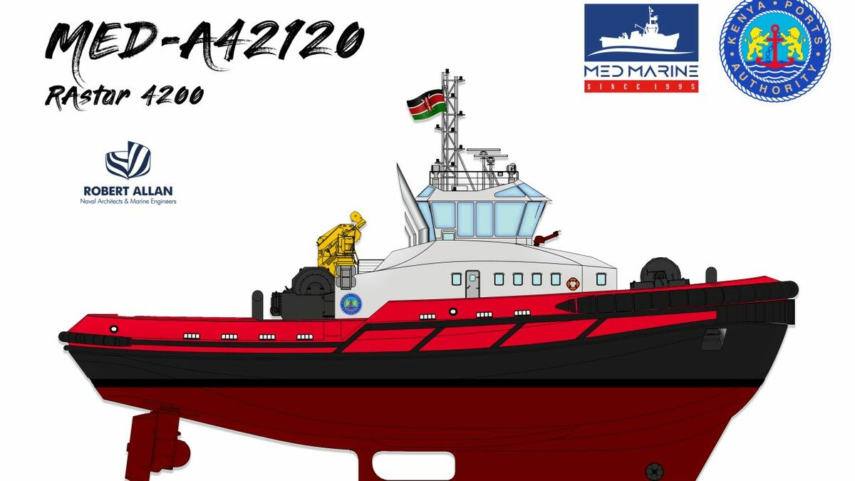 MED-A42120 was designed by Robert Allan as RAstar 4200 for Kenya Ports Authority