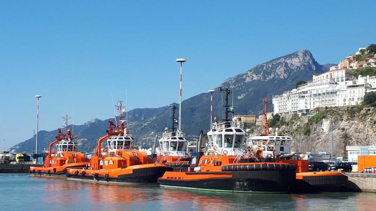 Rimorchiatori Salemo operates five tugs after Sanmar delivered tug Arechi in Italy