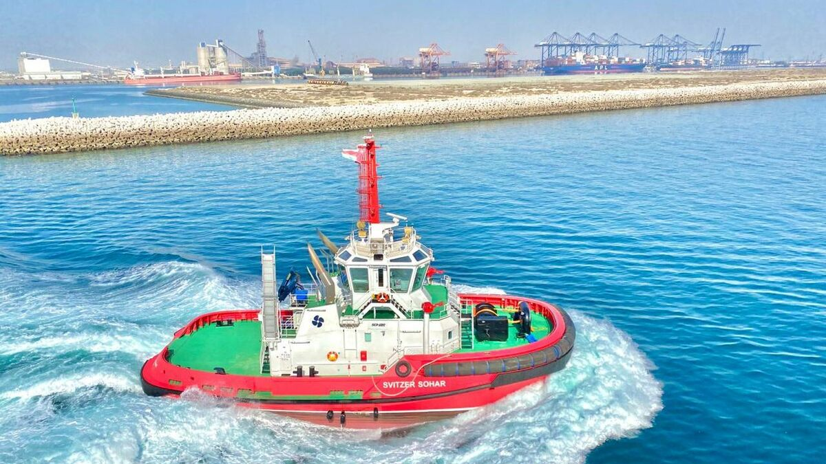 Sanmar built Svitzer Sohar with 80 tonnes of bollard pull for ship handling in Oman