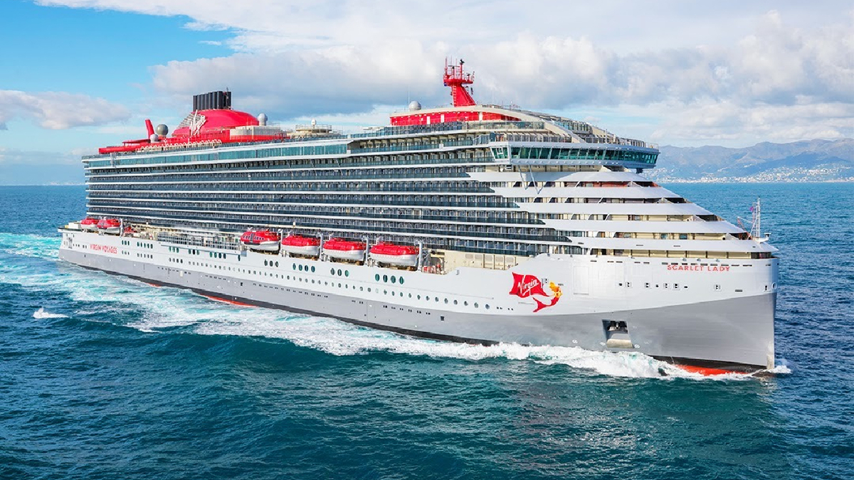 One of the ships delivered in Q1 by Fincantieri was Virgin Voyages' Scarlet Lady