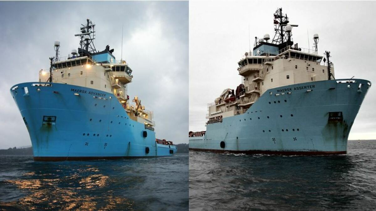 The vessels have been sold to an (undisclosed) international buyer and will be modified for use in a non-competing industry (Credit: Maersk)