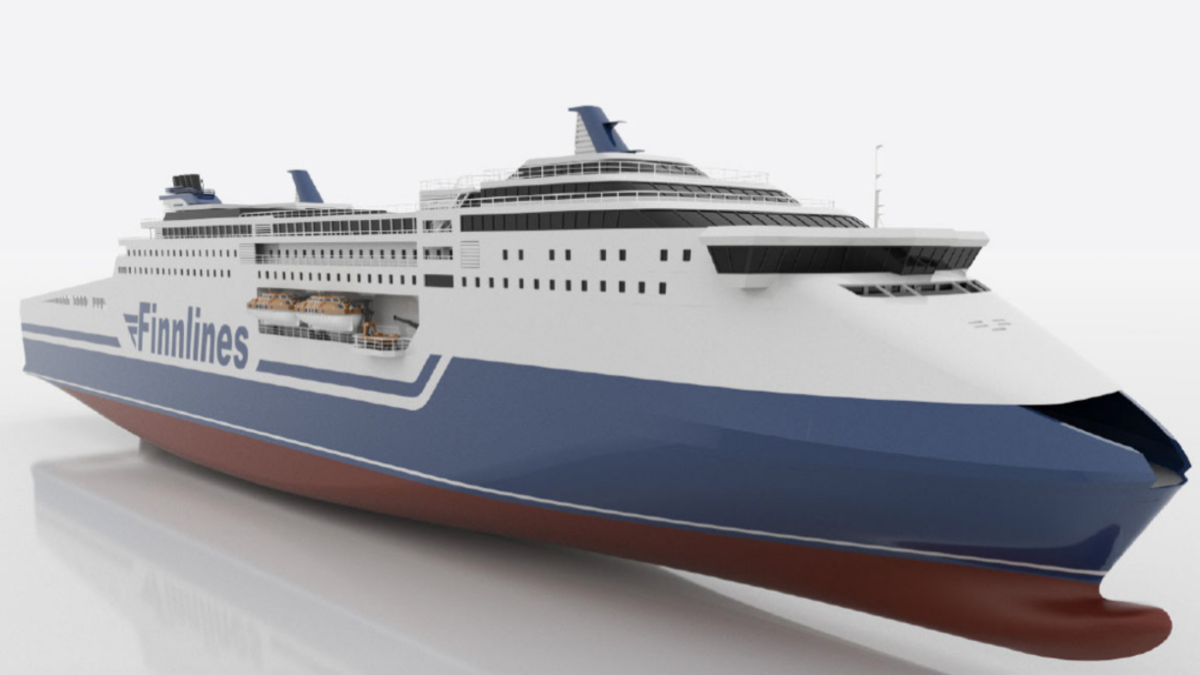 A rendering of the Finnlines' ropax ferry (Image: Finnlines)