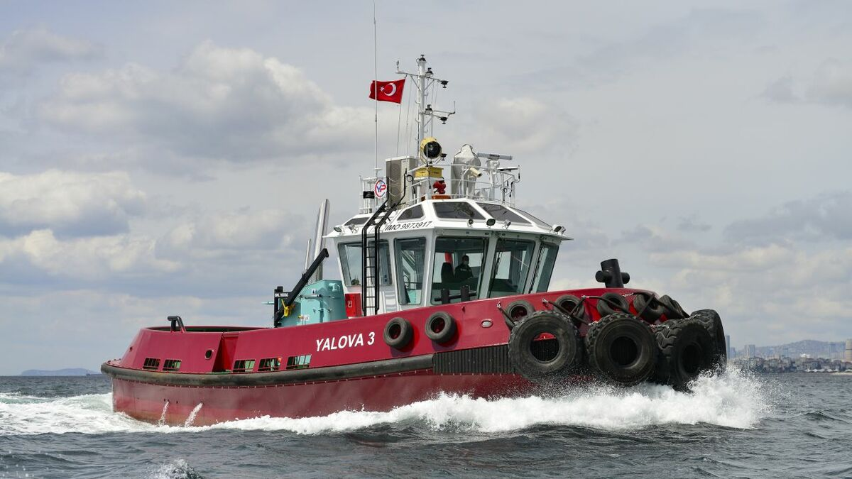 Sanmar used a Robert Allan RApport 1900SX design for its Bozcay tug series