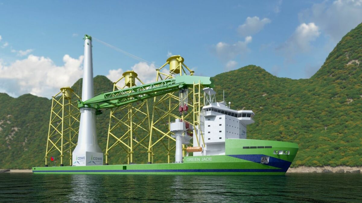 Green Jade is being built for a joint venture, CSBC-DEME Wind Energy, who will operate the vessel in the Taiwanese offshore wind market