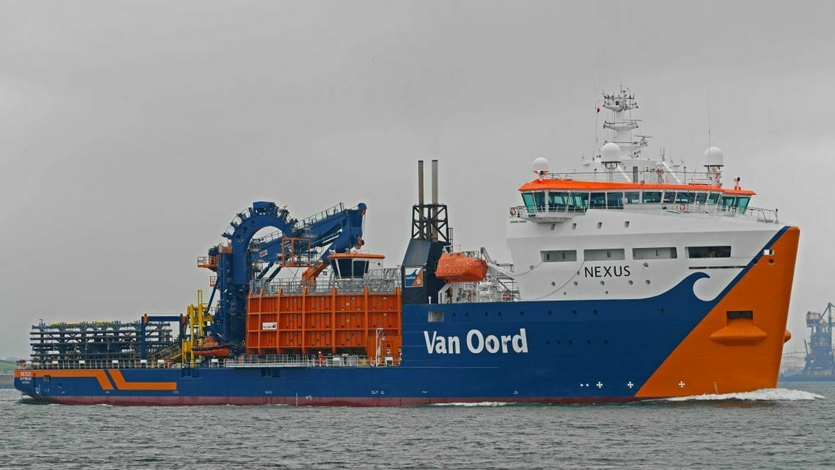 Digitalisation technologies have been adopted on Van Oord cable layer Nexus