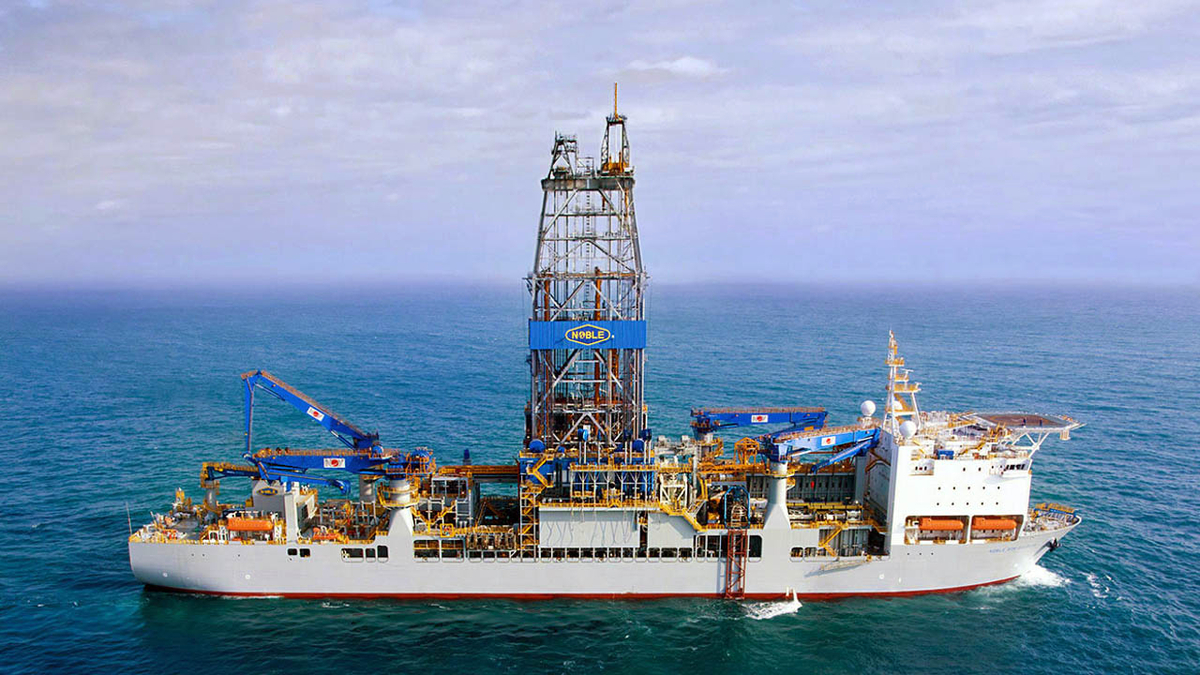 Noble Bob Douglas is one of three ultra-deepwater drillships in Guyana under an agreement with ExxonMobil