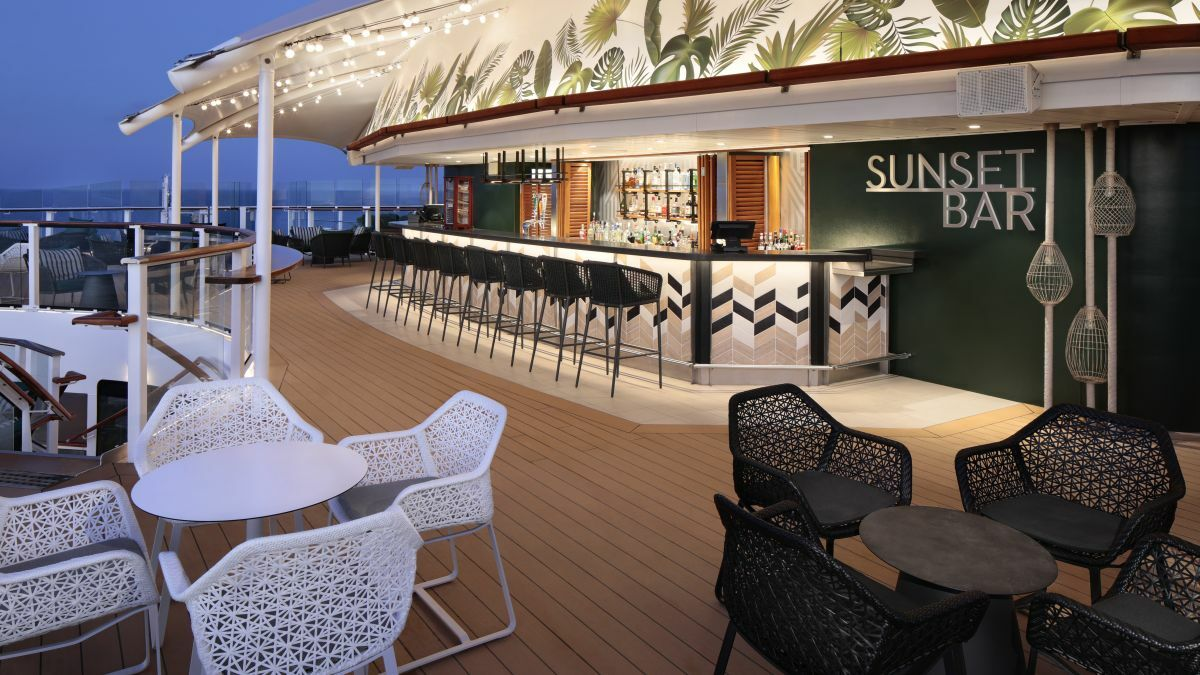 Celebrity Silhouette's Sunset Bar has been updated (credit: Royal Caribbean)